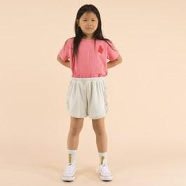 霓虹粉冰棒短袖上衣(版型偏大)