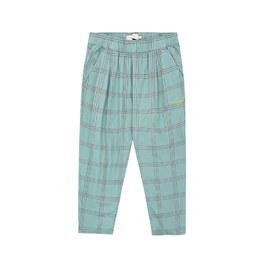 格紋薄棉休閒褲(版型偏大)