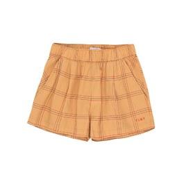 格紋打摺平織短褲(版型偏大)