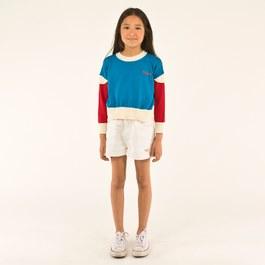 白色刺繡丹寧短褲(版型偏大)