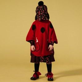 Bianca 小瓢蟲連帽針織斗篷
