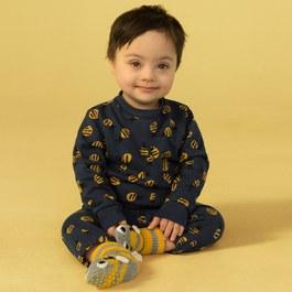Baby 嗡嗡嗡蜜蜂薄款衛褲