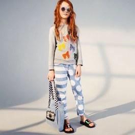 Lohan Stripes and Dots 丹寧褲