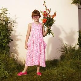 霓虹粉星星長版洋裝
