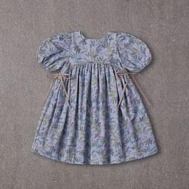 Tabitha森林系蓬袖洋裝_夢幻藍紫