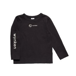 Logo 碳黑有機薄棉上衣(版型偏大)