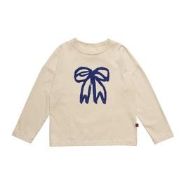 蝴蝶結有機薄棉上衣(版型偏大)