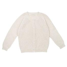 Petit Jour鏤空羊毛針織外套_米白