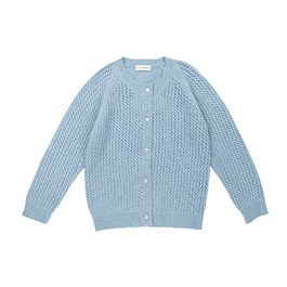 Petit Jour鏤空羊毛針織外套_天空藍