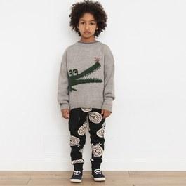 鱷魚混羊毛針織上衣