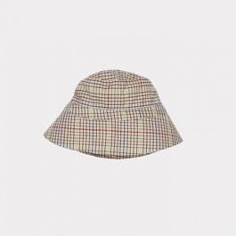 Baby 卡其格紋遮陽帽