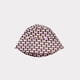 紫丁香幾何格紋遮陽帽