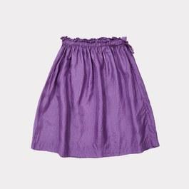 Aetna 紫色真絲及膝裙
