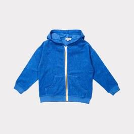 皇家藍薄款毛巾料夾克