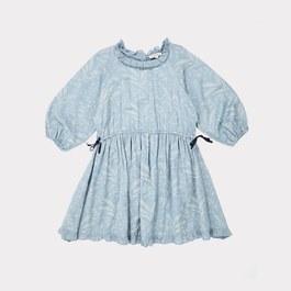 Artemis小麥印花絲棉洋裝(版型偏大)
