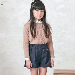 女孩打摺短褲(版型略寬)
