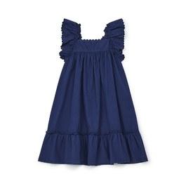 Celia 飛飛袖中長版洋裝_藍