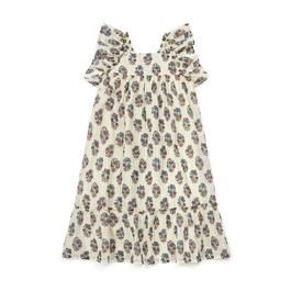 Celia 花朵金線中長版洋裝
