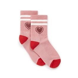 粉色愛心及膝襪