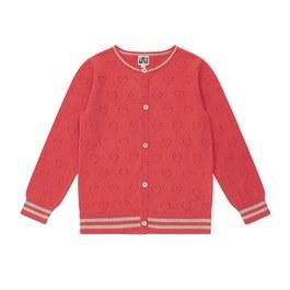 愛心鏤空薄棉針織外套
