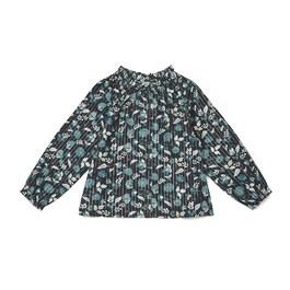 法式金線花朵薄棉上衣