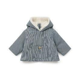 Baby千鳥紋毛絨拉鍊外套