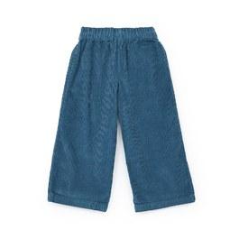 土耳其藍燈芯絨寬褲