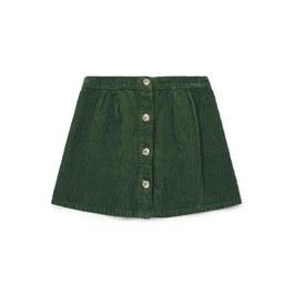 橄欖綠燈芯絨短裙