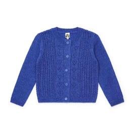 鏤空愛心混羊毛針織外套