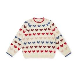 愛心混羊毛套頭衫