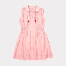 Brezel 有領刺繡洋裝_粉色