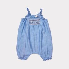 Baby Broa 絲棉混刺繡連身衣