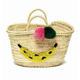 亮片香蕉球球編織提籃