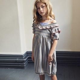 絲棉混條紋針織洋裝(輕薄款)