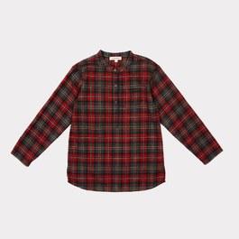 Deer 紅格紋圓領襯衫