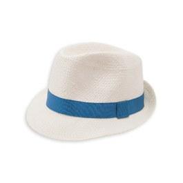 編織紳士草帽_藍