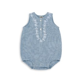 Baby 刺繡無袖連身衣