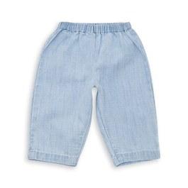 Baby 仿丹寧刷色薄棉長褲