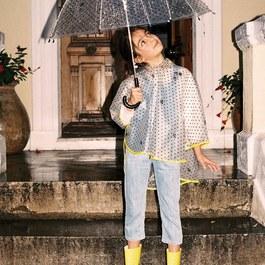 星星輕便款款雨衣斗篷