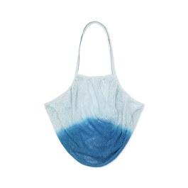 漸層色漁網手提編織袋(L)