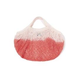 漸層色漁網手提編織袋(S)