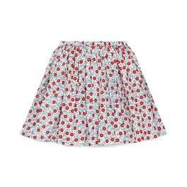 小花及膝裙