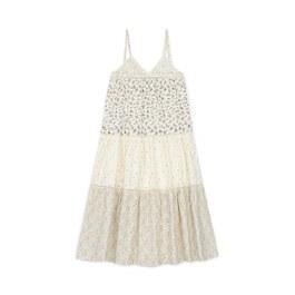 法式小花拼布長洋裝