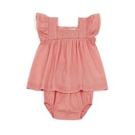 Baby 蕾絲飛飛袖洋裝