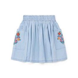 法式花朵刺繡圓裙