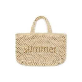 Summer 紙纖編織手提袋(L)
