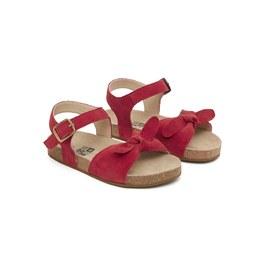 Carmen 蝴蝶結麂皮涼鞋