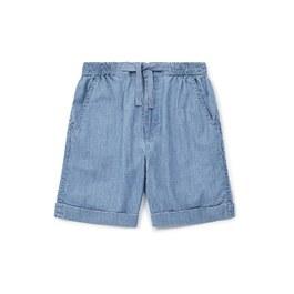 RIO 薄棉鬆緊綁帶五分褲