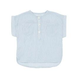 Eole 條紋有機薄棉上衣(寬鬆版)