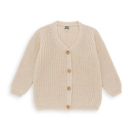 羊毛粗針織外套(中長版型)